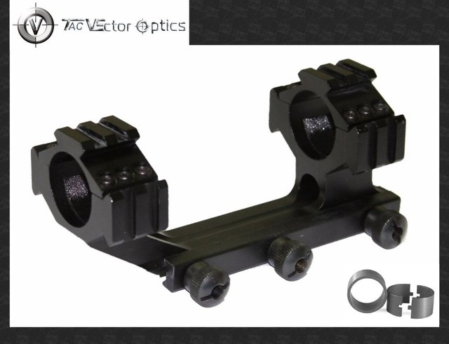 Vector Scope Tactical 30mm & 1'' One Piece Cantilever Weaver Mount / Integrated Rings w/ Tri-Rails Offset Style Holiday Sale