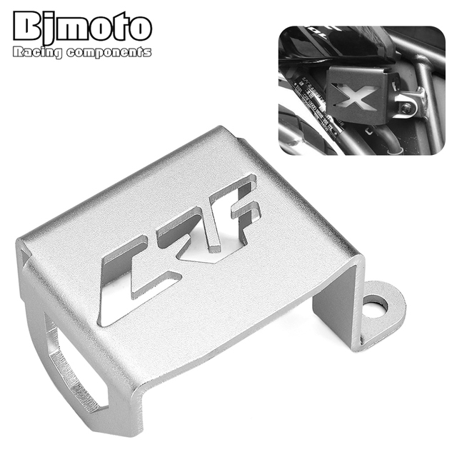 BJMOTO Motorcycle bike Rear Brake Fluid Reservoir Cover Guard Protector For Honda CRF1000L Aftica Twin ABS DCT 2016 2017 2018
