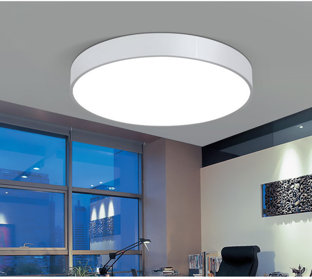 Creative Round led ceiling lamp living room bedroom learning kitchen home lighting & commercial lighting Ceiling lights