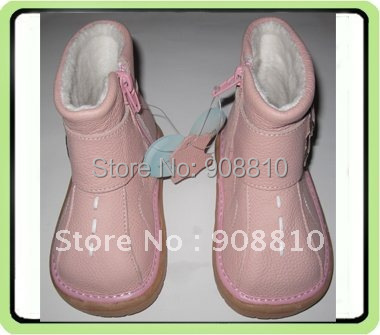 baby soft leather shoes pink baby boots with buckle girls zip closure new pink discount