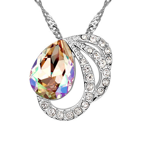 Austria Crystal Rhinestone Necklaces & Pendants For Women Fashion Jewelry Brand Charm Gift for girl