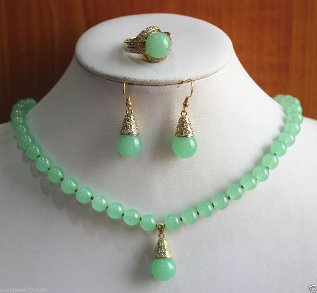 free shipping New Jewelry Fashion Precious  Stone Necklace Earring Ring set AAA style 100% Natural fine stone Noble Fine jewe