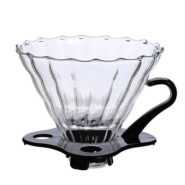 with Base Glass Tea Coffee Funnel Reusable Home Use Coffee Dripper Portable Baskets Coffee Filter Coffeemaker