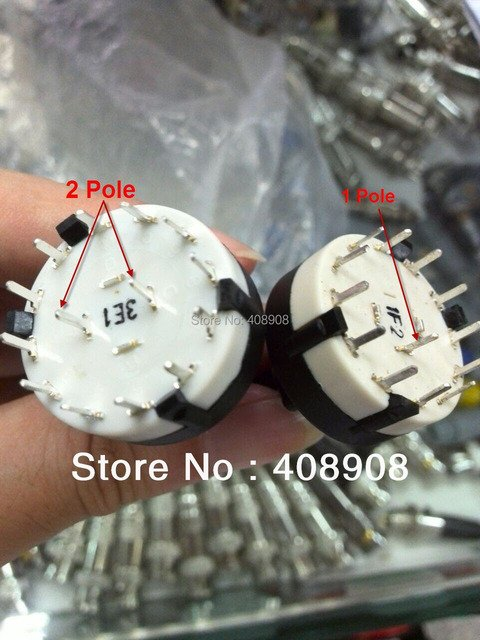 Adjustable 1 Pole 1-12 Position PANEL PCB Wiring ROTARY SWITCH  Band Switch  Selector Switch 1 Pole 12 Position