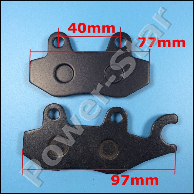 Right Side Brake Disk Pads Shoes for 50cc 70cc 90cc 110cc 125cc ATV Quad Pit Dirt Bikes Motorcycle Motocross Moped Buggy Scooter