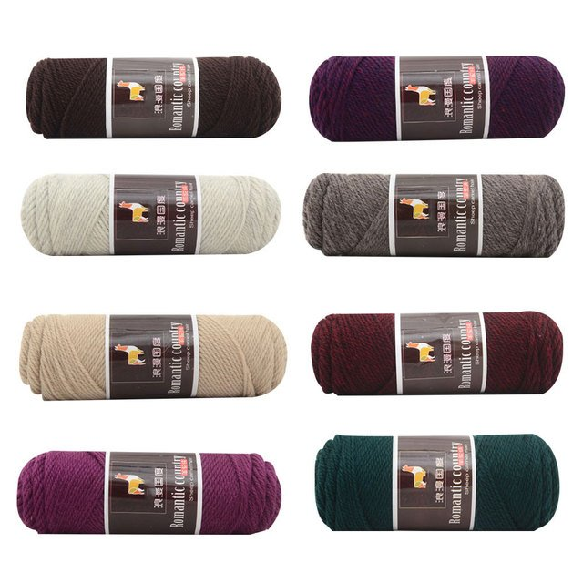 Yarn Soft 100g Alpaca Wool Gloves Worsted Knitting Scarves