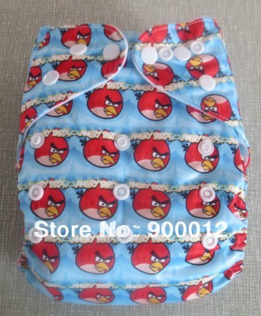 Free Shipping Promotion-New Prined Double Row High Quality Baby Infant Diapers With Inserts for Baby Nappies 100 Sets