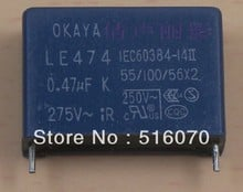 20PCS/LOT!! OKAYA safety capacitor LE474 0.47UF 275V In Stock Low Price and High quality