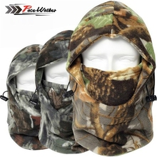 Cap Winter Face And Neck Warmers Fleece Camouflage Cap Balaclava Trekking Riding Ski Hunting Thermal Hat Wind-proof Mask