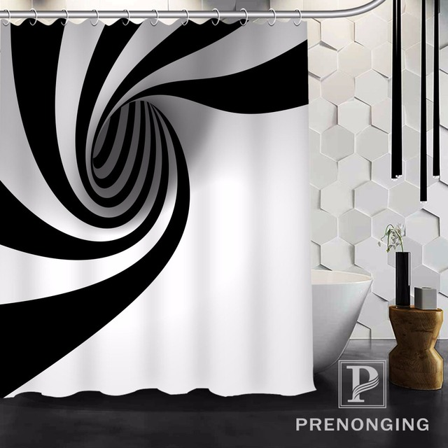 Personalized Custom Shower Curtain Mordern Circle Home Decoration Bathing Curtains Cloth Waterproof Polyester S-171212#01-03