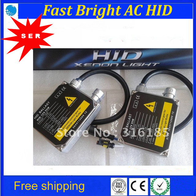 Free Shipping Fast Start AC Xenon BALLAST New High quality 12V 35W 6000K Normal Thick AC HID Xenon Ballast Factoty Promotion