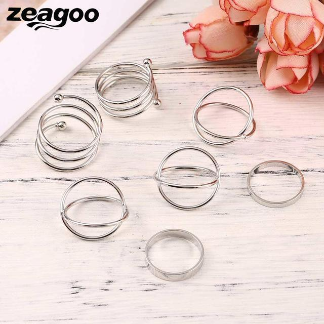 Casual Ring Fashion New Shaped Jewelry Different Charm Wedding Women
