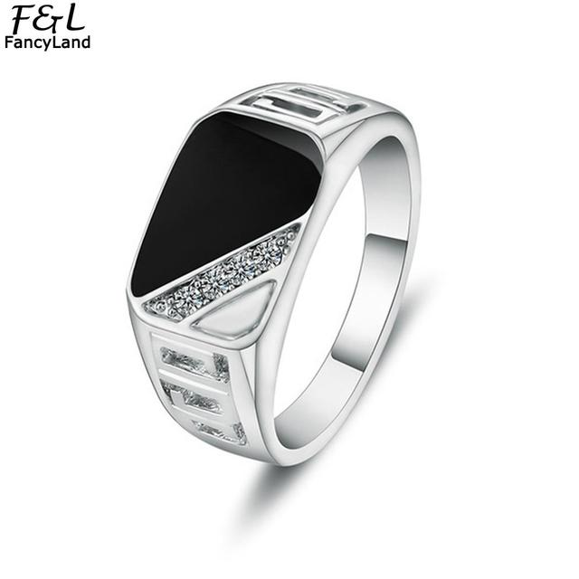 2019 Rings Men Fashion Jewelry 1PC Men Rhinestone Stone Rings Hollow Out Decor Punk Style Round Ring Hot Sell Men Jewelry