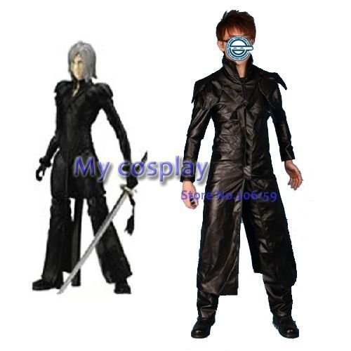 Final Fantasy Yazoo men's cosplay clothing party boy's Costumes & Accessories Men Cool Leather Coat Fashion Clothes