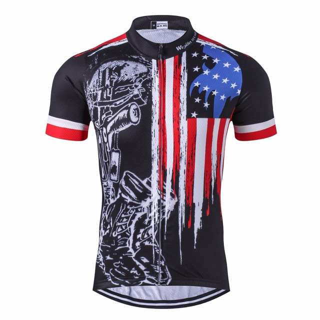 2017 USA Cycling Jersey Men summer bicycle shirts ropa ciclismo maillot clothing pro mtb team bike jersey breathable sportswear