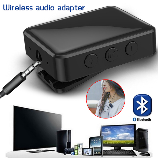 2 in 1 Wireless Bluetooth Transmitter Receiver 3.5mm Stereo Wireless Music Audio Bluetooth V4.2 Adapter for TV DVD MP3 PC