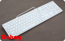 Chocolate ultra-thin external keyboard notebook usb computer wired keyboard Slim for Apple Windows System iPad Laptop PC