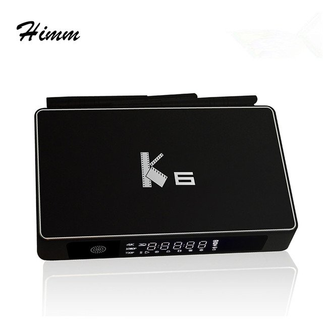 K6 Android Tv Box 2G/16G Amlogic S812 Quad core Android 5.1.1 Smart TV Box 2.4GHz/5GHz Dual WiFi UHD 4K 3D Miracast Media Player