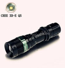 1 PC CREE LED Q5 Flashlight 18650 or AAA Torch Stretch Zoom Lamp Light 450 Lumen 3 Mode Zoomable flashlight free shipping