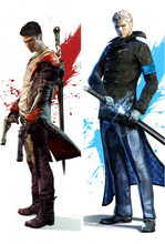 Free shipping  Devil may cry Dante Vergil Dakimakura / Hugging Pillow Case #1004