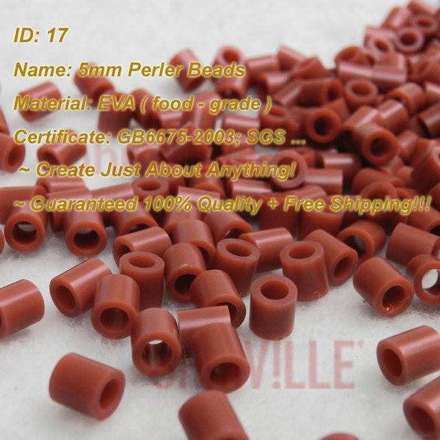 5mm Perler Beads ( Brown - Id:17 ) Hama Beads, Fused Beads ~ Create Just About Anything ~guaranteed 100% Quality +free Shipping
