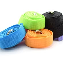183CM Sport Yoga Stretch Strap D-Ring Belt Gym Waist Leg Fitness Adjustable Belt Figure Waist Leg Resistance Fitness Bands Yoga