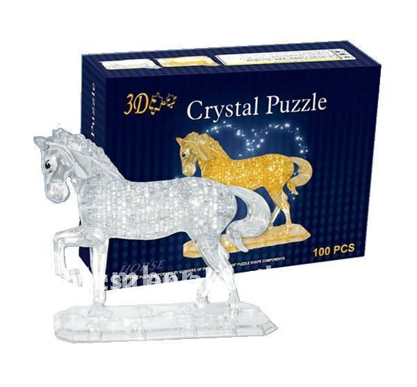 Free shipping,3D DIY Puzzle-Horse