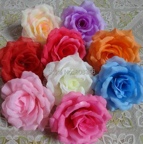 50pcs Artificial Camellia Rose Peony Flower Heads Wedding Party Decorative Flowers Several Colours Available