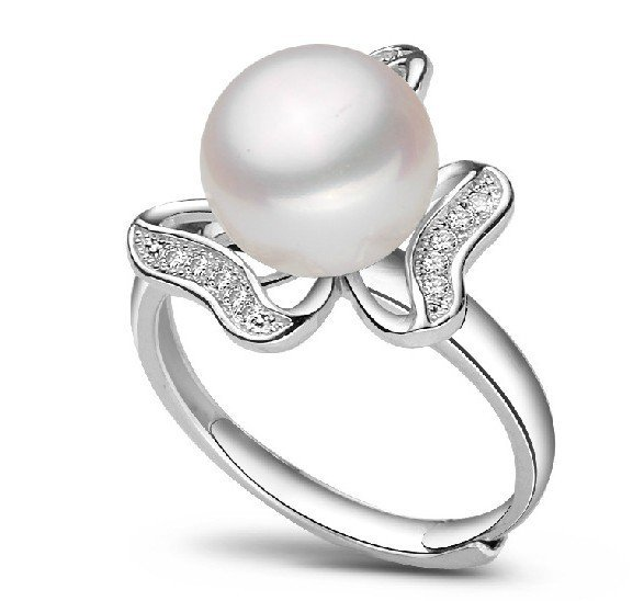 ADJUSTABLE Real Freshwater Pearl Ring 10-11mm Super Big Size Jewellery Fashion Finger Ring Hot Promotion!!!