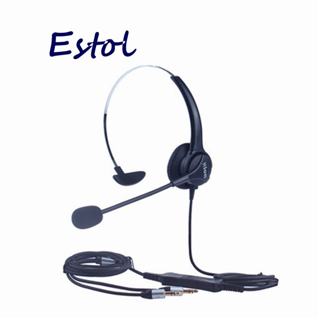 HD voice Hion For600 computer dual 3.5 mm plug,professional headset for call center,training center earphone,PC Headphone