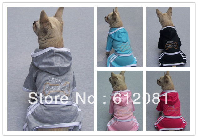 Free shipping new style pet dog hoodies sports leisure four-leged clothes 30pcs/lot