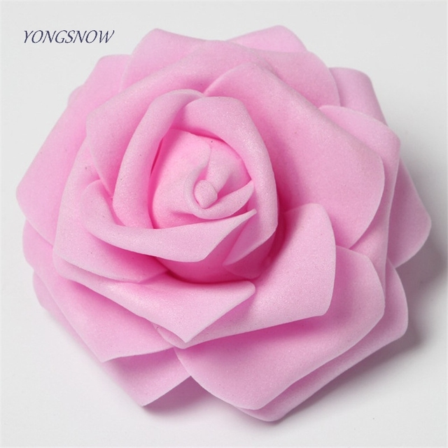 8cm PE Foam Rose Decorative Flowers Wreaths DIY Wedding Party Decoration Multi-use Artificial Flower Heads Home Garden Supplies