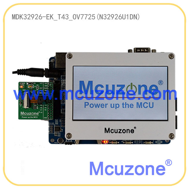 MDK32926-EK-T43-OV7725 dev board N32926U1DN Soc,  cmos 30m 16MB+256MB FLASH, HS USB, H.264 and JPEG codec,480272 TFTLCD with TP