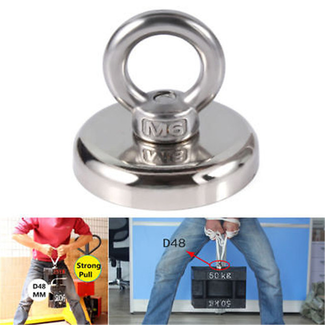 for  five size 25 32 36 48 60mm Recovery Magnet Hook Strong Sea Fishing Diving Treasure Hunting worth owning