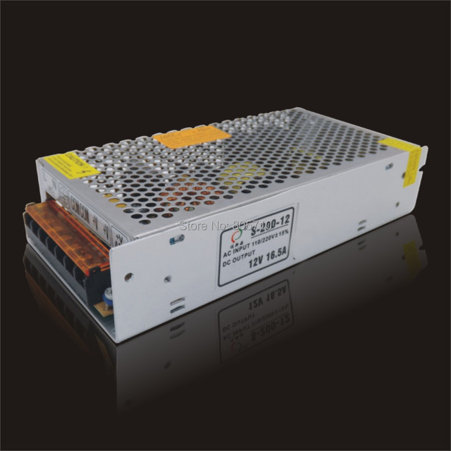 12V16.5A 200W LED Power supply,  switch mode power supply 170~264VAC OR 90~264VAC, high quality