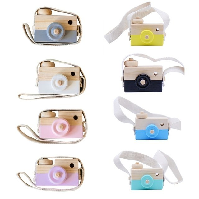 Nordic European Style Camera Toys Baby Kids Room Decor Furnishing Articles Child Christmas Birthday Wood Gifts