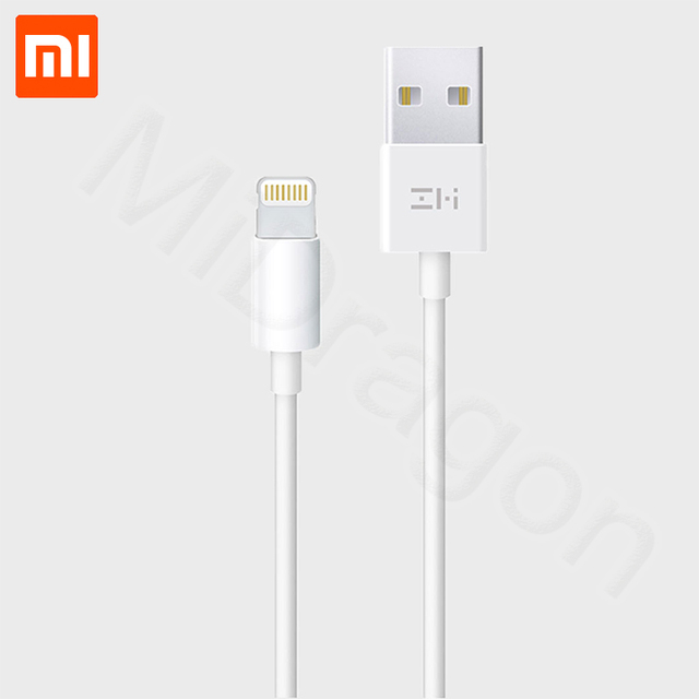 Xiaomi Data Cable 1m White For iphone Ipad ipod MFI Certification Charging Data Sync Cable For iPhone X XS Max XR Fast Charging