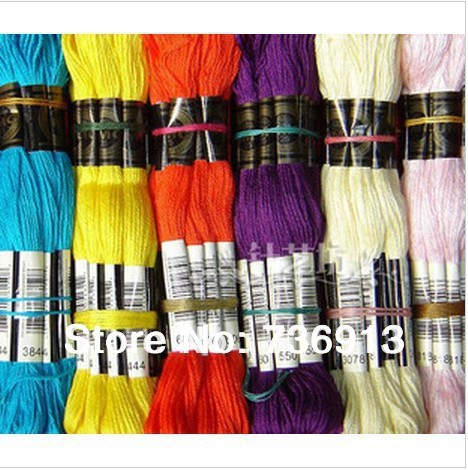 Choose Your Needed Colors 8 meter Length 6 Strands Total 894 Skeins Cross Stitch Yarn Thread Floss