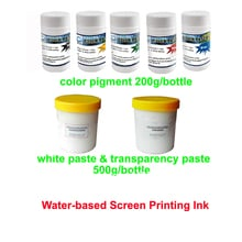 Hot water-based silk screen printing ink color pigment 200g/bottle white transparency paste T-shirt printing ink