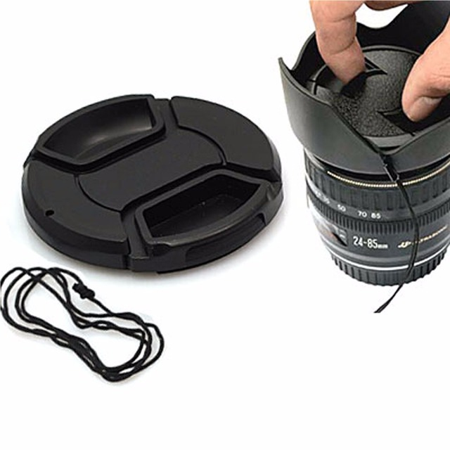 DSLRKIT 37mm Center Pinch Snap on Front Cap for Lens / Filters