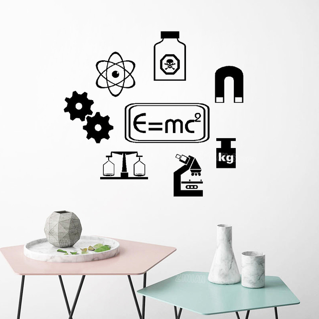 DIY Chemistry Wall Stickers Bedroom SCIENCE Vinyl Wall Art Quote Sticker School Learning Laboratory Classroom Decor Decals S512