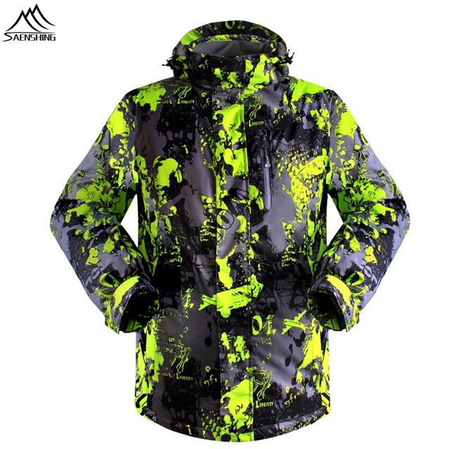 SAENSHING Men`s Skiing Jacket Waterproof Thicken Warm Winter brand Snow Coats Outdoor Sport Ski Snowboard Jacket Windproof
