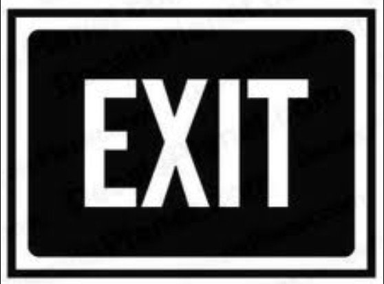 140x100m EXIT guide Self adhesive label sticker,product code PL24, free shipping