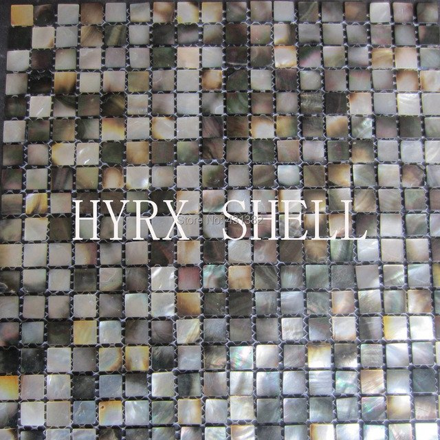 Natural black mother of pearl Mosaic tiles,kitchen backsplash tiles bathroom mosaic tile Mosaic tile shower panel