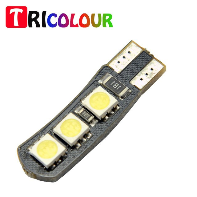TRICOLOUR 10X Double No Error T10 LED 194 168 W5W Canbus 6 SMD 5050 LED Car Interior Bulbs Light Parking Width Lamps #TB47