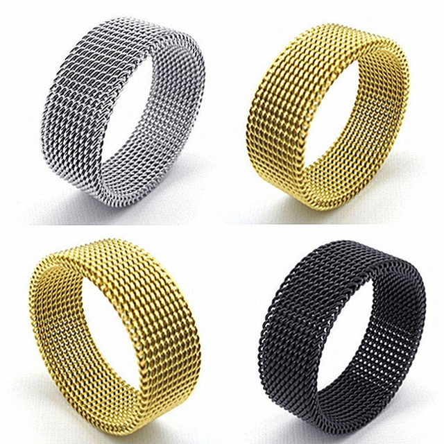 wholesale 20pcs mix styles mens womens stainless steel fashion jewelry rings brand new black gold silver colors