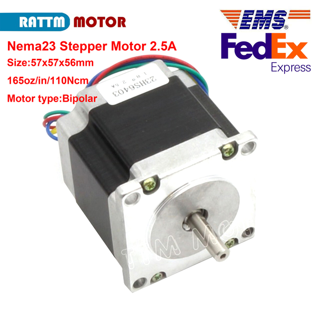 Nema23 stepper motor 57x56mm 1.1N.m 165 Oz-in 2.5A 4 wires 3A for 3D printer parts CNC engraving machine 23HS6403