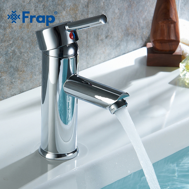 FRAP Single Handle Basin Faucet Chrome Waterfall Bathroom Sink Faucet Basin Tap Bathroom Tap Hot And Cold Water Faucet Y10175