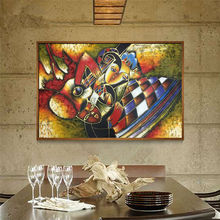 World famous paintings  abstract painting Woman playing the guitar Hand painted oil painting on canvas Wall art picture