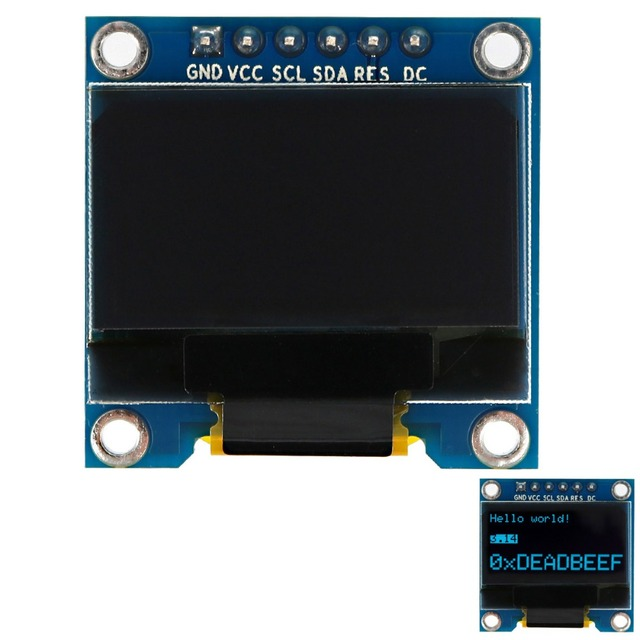"SSD1306 0.96"" 128 x 64 Blue OLED Screen Display Module OLED Board with I2C / 4SPI / 3SPI for Arduino"